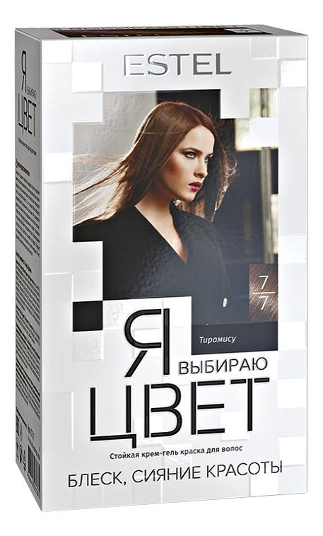 Стойкая крем-гель краска для волос Я выбираю цвет 150г: 7/7 Тирамису