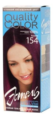 Стойкая гель-краска для волос Vital Quality Color: 154 Божоле краска для волос tints of nature стойкая гель краска
