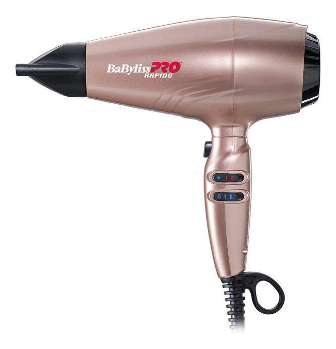 Фен для волос Rapido BAB7000IRGE 2200W (3 насадки, глушитель, диффузор)