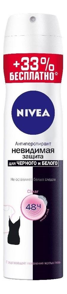 Дезодорант-антиперспирант Невидимая защита для черного и белого Clear 200мл: Дезодорант 200мл недорого