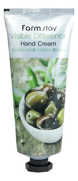 Крем для рук с экстрактом оливы Visible Difference Hand Cream Olive 100мл цена 2017