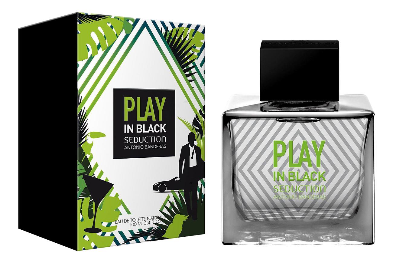 Antonio Banderas Play Seduction In Black: туалетная вода 100мл фото