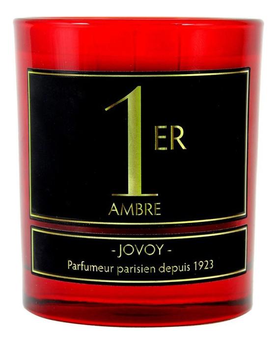 Ароматическая свеча Ambre 1er: свеча 185г свеча от комаров argus