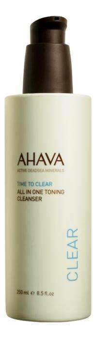 Тонизирующее очищающее средство для лица Все в одном Time To Clear All In One Toning Cleanser 250мл тонизирующее очищающее средство 2 в 1 weleda