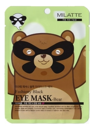 Увлажняющая маска от морщин вокруг глаз Fashiony Black Eye Mask-Bear 10г
