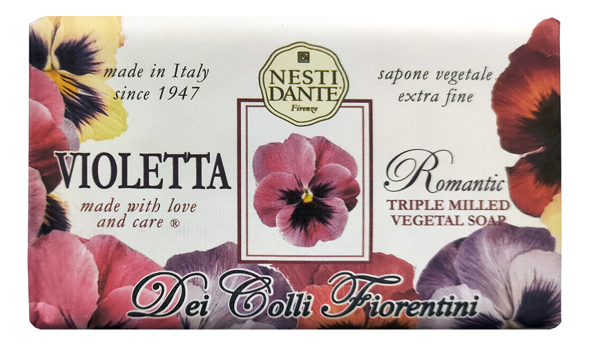 Мыло Dei Colli Fiorentini Romantic Violetta Soap 250г (романтичная фиалка)