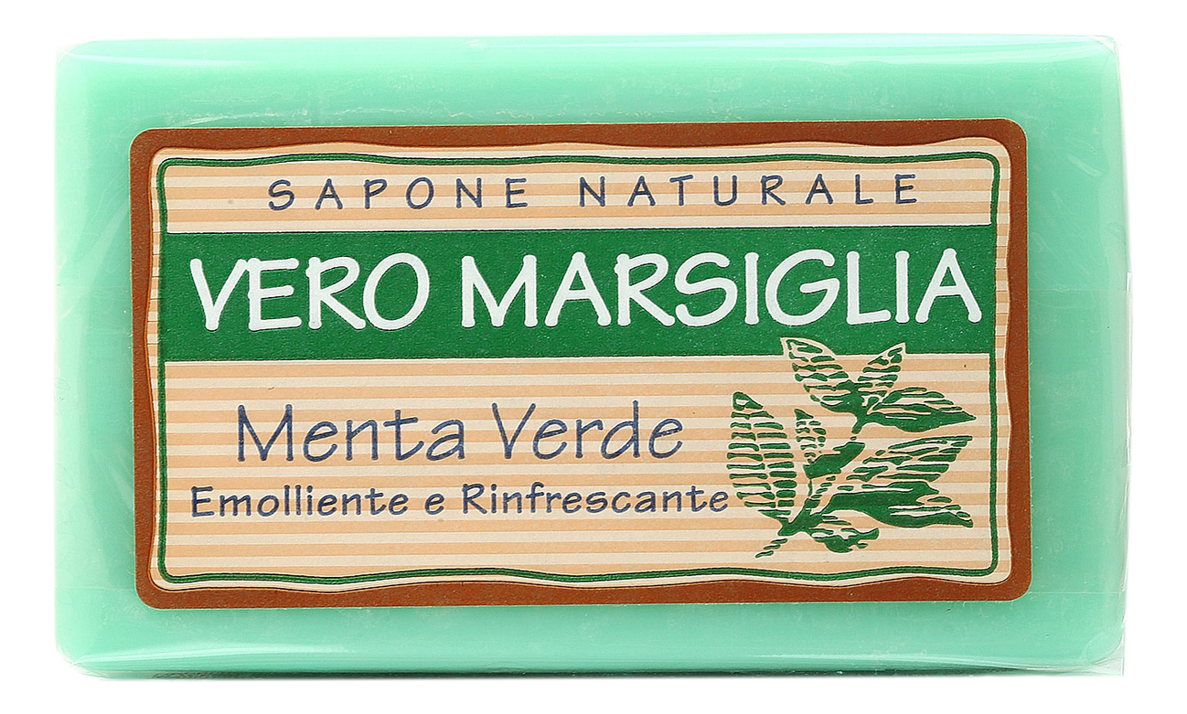 Мыло Vero Marsiglia Menta Verde Soap 150г (зеленая мята) сыр маркет зеленая линия голландский 45% 150г