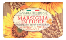 NESTI DANTE Мыло Marsiglia In Fiore Honey & Sunflower Soap 125г (мед и подсолнух)