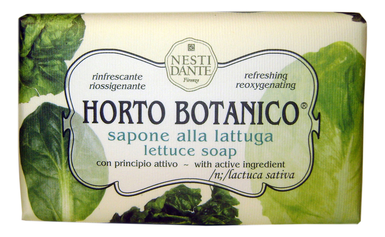 Мыло Horto Botanico Lettuce Soap 250г (листья салата)