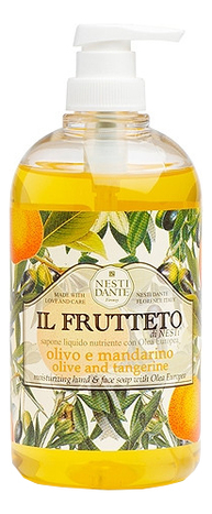 Купить Жидкое мыло Il Frutteto Olive & Tangerine 500мл (оливковое масло и мандарин), Жидкое мыло Il Frutteto Olive & Tangerine 500мл (оливковое масло и мандарин), NESTI DANTE