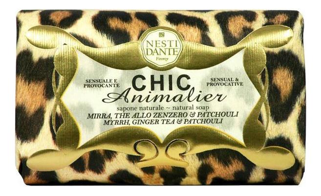 Купить Мыло Chic Animalier Ginger Tea & Patchouli Soap 250г (бронзовый леопард), Мыло Chic Animalier Ginger Tea & Patchouli Soap 250г (бронзовый леопард), NESTI DANTE