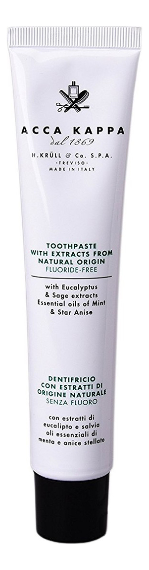 Зубная паста без содержания фтора Natural Toothpaste Fluoride-Free 100мл
