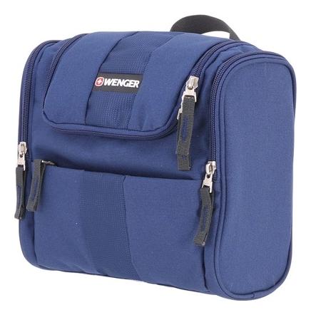Несессер Toiletry 2 боковых кармана на молнии (синий)