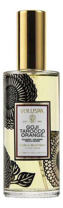 Купить Ароматический спрей для дома и тела Goji Tarocco Orange 100мл (ягода Годжи и красный апельсин), VOLUSPA