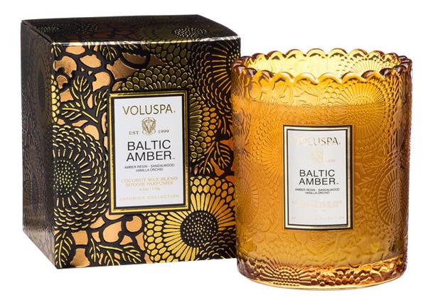 Ароматическая свеча Baltic Amber (смола и дерево): свеча в подарочной коробке 176г автодиффузор для автомобиля baltic amber балтийский янтарь