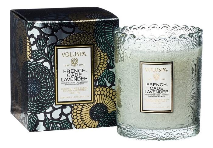 Фото - Ароматическая свеча French Cade Lavender (лаванда и вербена): свеча в подарочной коробке 255г ароматическая свеча lavender vanilla лаванда и ваниль свеча 680г