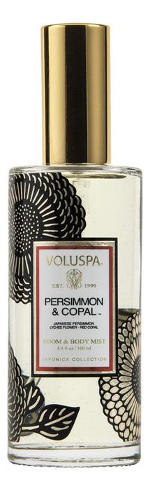 Ароматический спрей для дома и тела Persimmon & Copal 100мл (хурма и смола) ароматический спрей для дома и тела gardenia colonia 100мл гардения