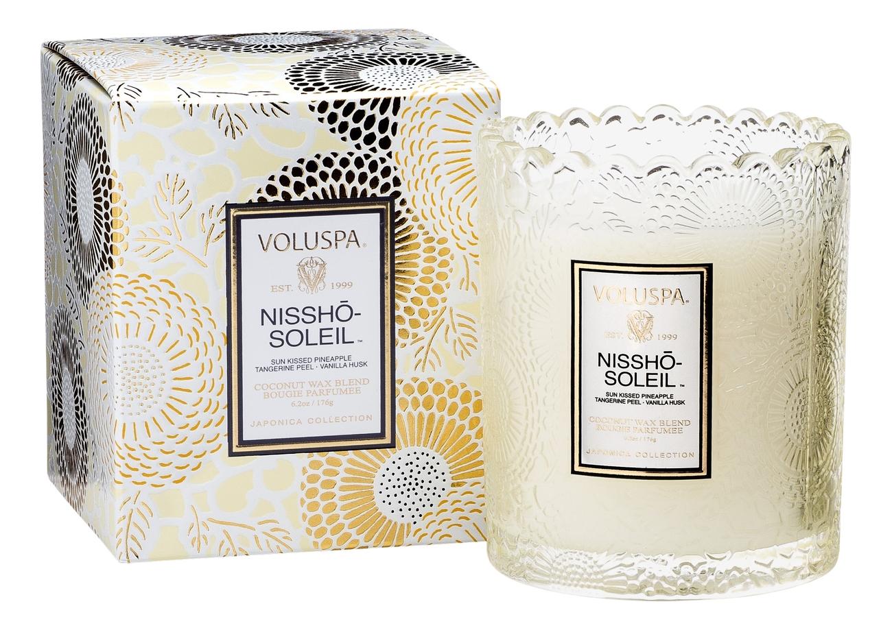 Купить Ароматическая свеча Nissho-Soleil (ананас, мандарин и ваниль): свеча в подарочной коробке 176г, VOLUSPA