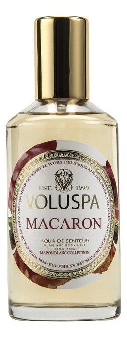 Ароматический спрей для дома и тела Macaron 112мл (миндальное печенье) ароматический спрей для дома и тела ebony