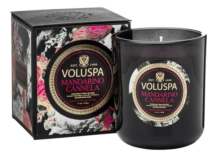 Фото - Ароматическая свеча Mandarino Cannela (мандарин и корица): свеча в подарочной коробке 340г ароматическая свеча корица и гвоздика свеча 200г