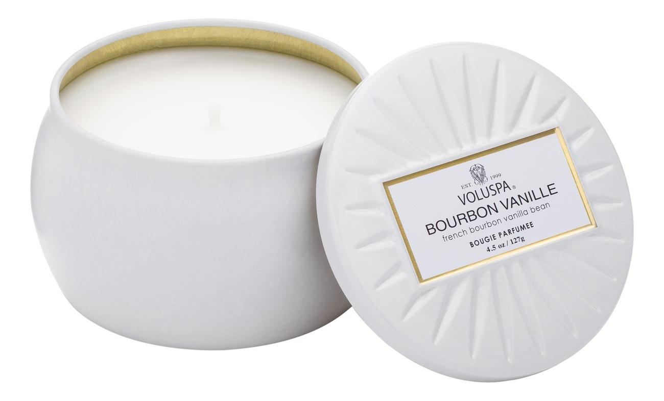 Ароматическая свеча Bourbon Vanille (ваниль Бурбон): в декоративном подсвечнике 127г