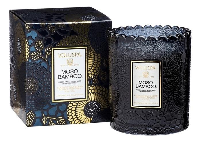 Ароматическая свеча Moso Bamboo (бамбук мосо и японский кипарис): в подарочной упаковке 176г
