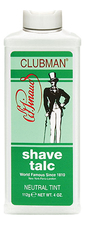 Clubman Pinaud Тальк для сухого бритья Shave Talc Neutral 112г