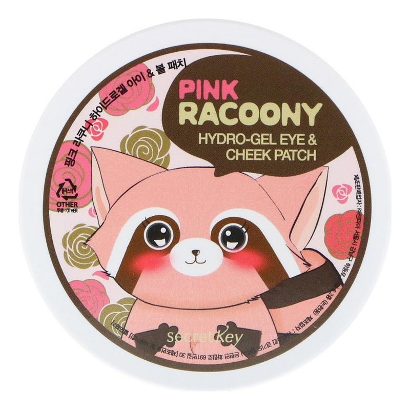 Купить Патчи для кожи вокруг глаз и скул гидрогелевые Pink Racoony Hydro-Gel Eye & Cheek Patch 60шт: Патчи 60шт, Патчи для кожи вокруг глаз и скул гидрогелевые Pink Racoony Hydro-Gel Eye & Cheek Patch, Secret Key