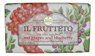 Мыло Il Frutteto Red Grapes & Blueberry Soap (красный виноград и голубика): Мыло 250г цена 2017