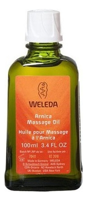 Купить Масло для тела массажное с экстрактом арники Arnica Massage Oil: Масло 100мл, Weleda