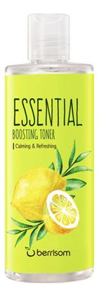 Успокаивающий тонер для лица с экстрактом лимона Essential Boosting Toner 265мл недорого