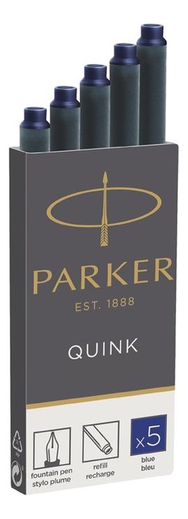 Чернильные картриджи для перьевой ручки Quink 1950384 5шт (синие)