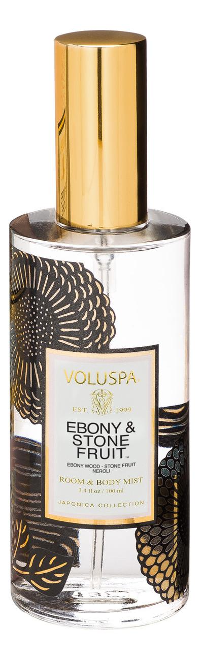 Ароматический спрей для дома и тела Ebony & Stone Fruit 100мл (эбеновое дерево и нероли) ароматический спрей для дома и тела gardenia colonia 100мл гардения