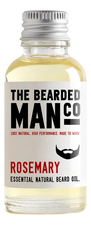 The Bearded Man Company Масло для бороды с запахом розмарина Essential Natural Beard Oil Rosemary