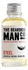 The Bearded Man Company Масло для бороды с запахом стали Essential Natural Beard Oil Steel