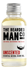 The Bearded Man Company Масло для бороды без запаха Essential Natural Beard Oil Unscented