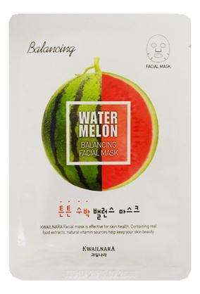 Купить Маска для лица с экстрактом арбуза Kwailnara Watermelon Balancing Facial Mask 20мл, Welcos