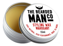 The Bearded Man Company Воск для усов с запахом махогона Styling Wax Mahogany 15мл