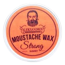 ALEKSANDROV Воск для усов Sunset Moustache Wax Strong 13г