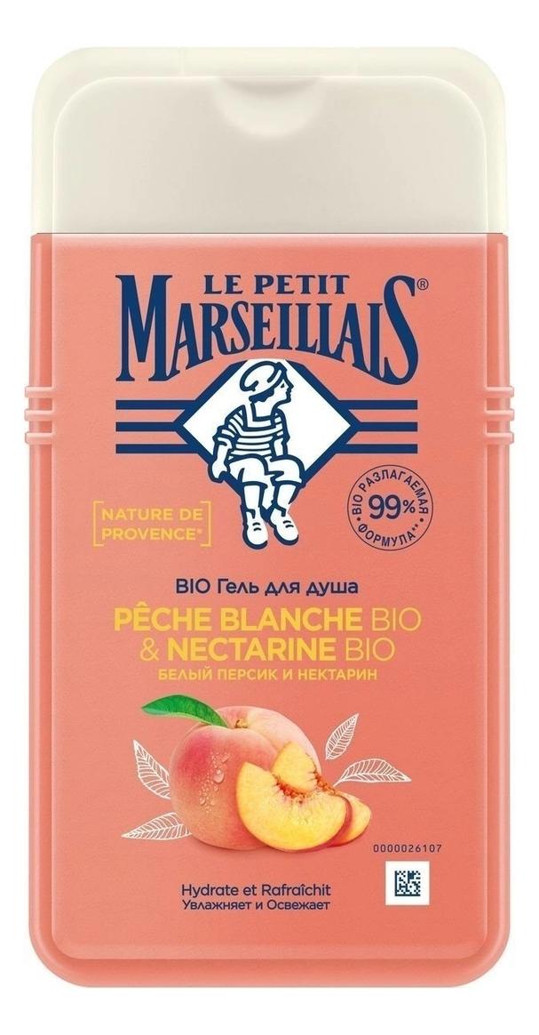 Купить Гель для душа Белый персик и нектарин Bio Peche Blanche & Nectarine: Гель 250мл, Гель для душа Белый персик и нектарин Bio Peche Blanche & Nectarine, Le Petit Marseillais