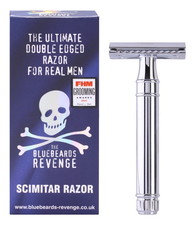 The Bluebeards Revenge Станок т-образный Индийская сабля The Ultimate Double Edge Razor For Real Men Scimitar Razor
