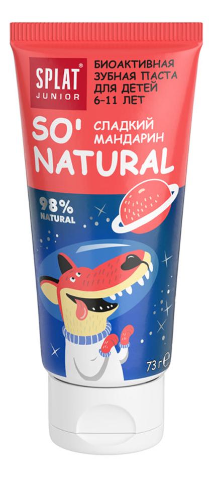 Купить Зубная паста для детей 6-11 лет Junior So' Natural 73г (сладкий мандарин), SPLAT
