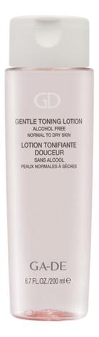 Фото - Тонизирующий лосьон для нормальной и сухой кожи Gentle Toning Lotion 200мл biotherm biosource тонизирующий лосьон для нормальной и комбинированной кожи