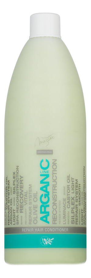 Фото - Восстанавливающий бальзам для волос с аргановым маслом Arganic Line Repair Hair Conditioner 970мл реструктурирующий бальзам для волос с кератином keratin line restructure hair conditioner 970мл