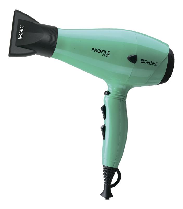 Фен для волос Profile 03-120 Aqua 2200W (ионизация, 2 насадки, аквамарин)
