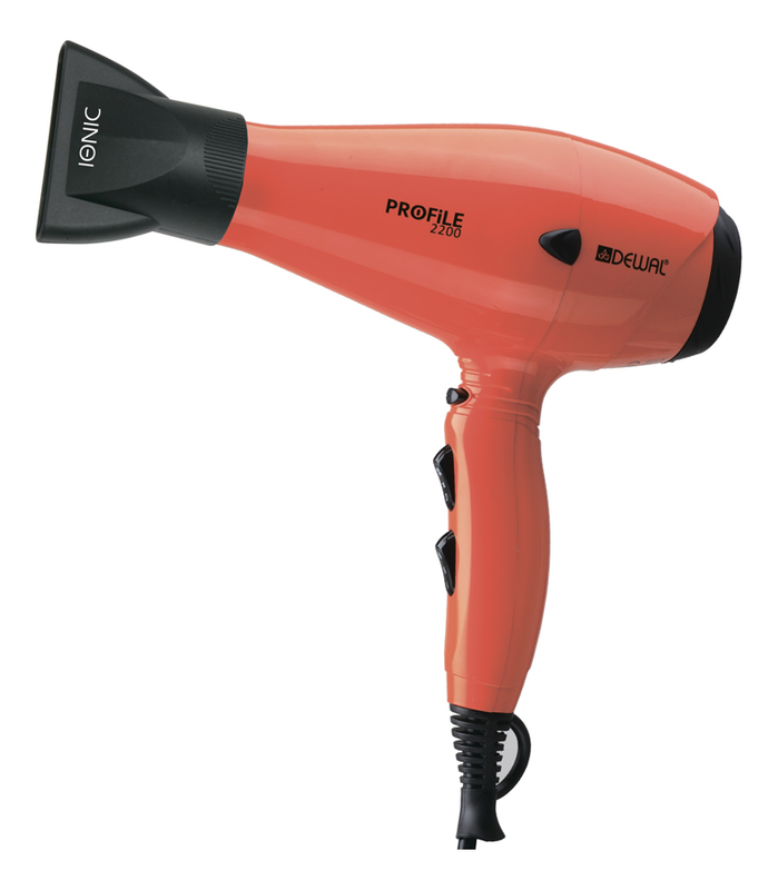 Купить Фен для волос Profile 03-120 Orange 2200W (ионизация, 2 насадки, оранжевый), Dewal