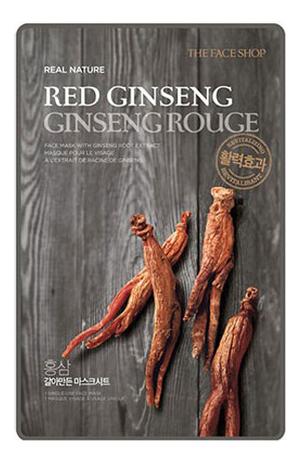 Тканевая маска для лица с экстрактом красного женьшеня Real Nature Mask Red Ginseng 20г недорого