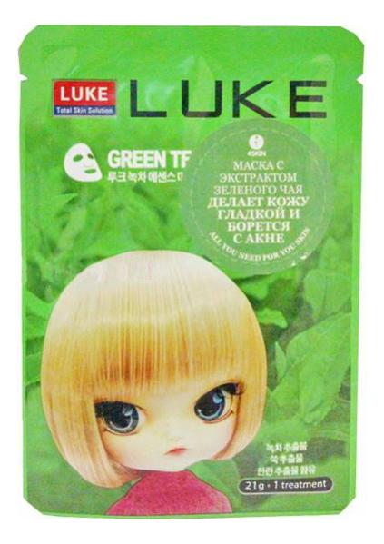 Тканевая маска для лица с экстрактом зеленого чая Green Tea Essence Mask 21г sun smile essence маска для лица успокаивающая с экстрактом зеленого чая 1 шт