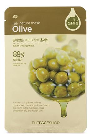 Тканевая маска для лица с экстрактом оливы Real Nature Mask Olive 20г the face shop real nature тканевая маска для лица с экстрактом черники 20 г