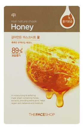 Тканевая маска для лица с экстрактом меда Real Nature Mask Honey 20г недорого
